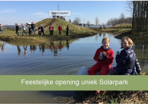 Feestelijke opening Solarpark de Kwekerij