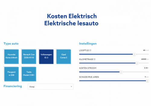 Les Elektrisch lanceert speciale online kostencalculator voor rijscholen